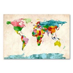 world map pretty