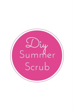 DIY beach body scrub