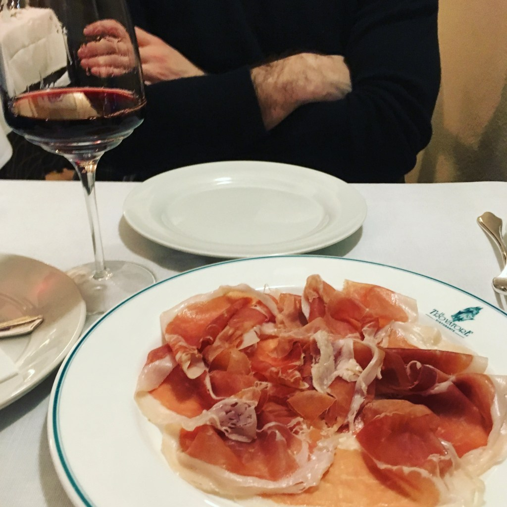proscuitto plate parma italy restaurant
