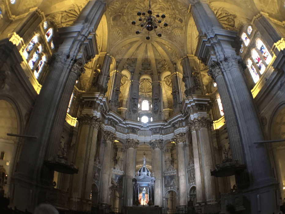 cathedral malaga spain inside
