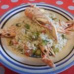 Risotto agli asparagi e scampi ricetta