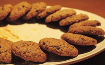 Biscotti integrali con gocce di cioccolato di nonna Jessica