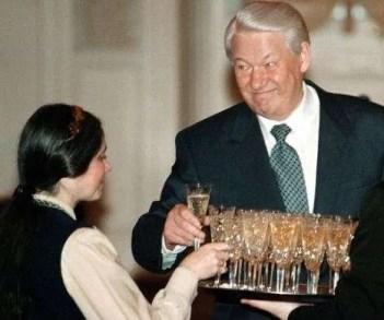 Boris Yeltsin bevitore