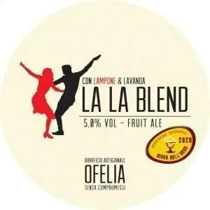 Birra Ofelia La La Blend al lampone e lavanda