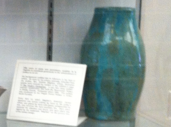 Turquoise Blue and Green Glazed Vase from Pisgah Forest Pottery