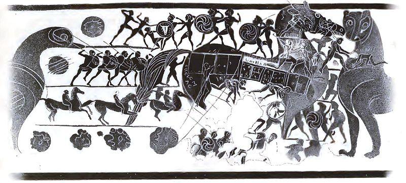O cavalo em um vaso de Corinto