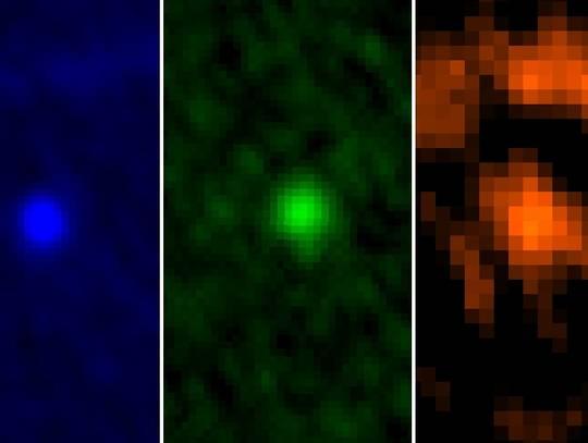 Observações do asteroide no espectro infravermelho