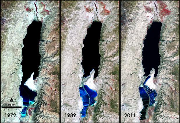 Diminuição do Mar Morto ao longo dos anos