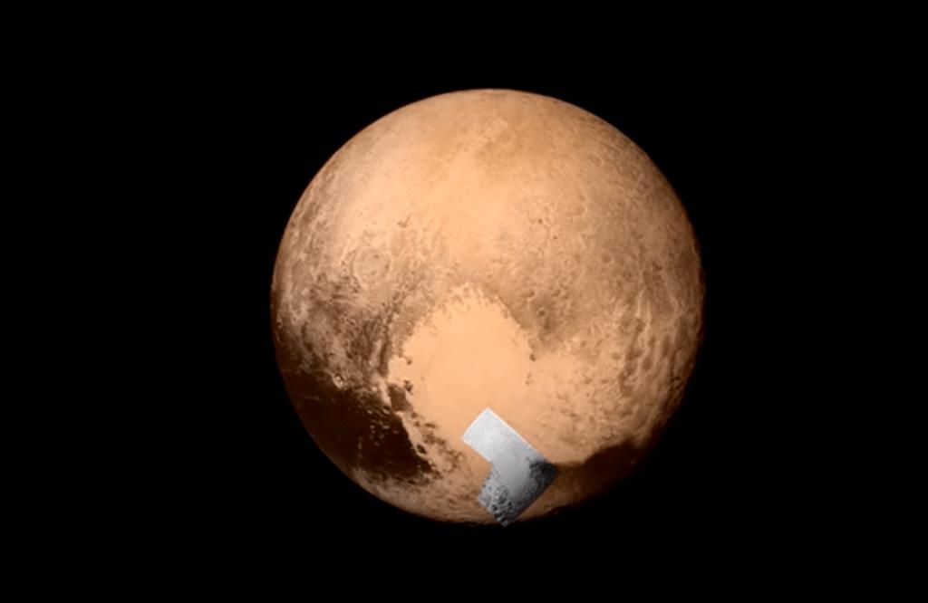 A planície Sputnik está localizada no coração de Plutão