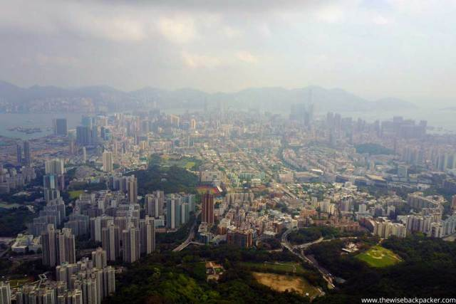 The view over Hong Kong from Lion Rock