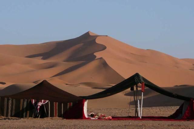 Camping in Sahara Desert