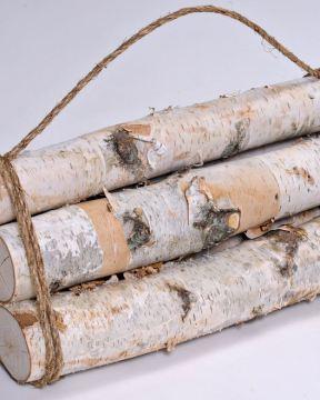 White Birch Firewood Bundle - Decorative