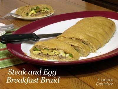 Steak and Egg Breakfast Braid