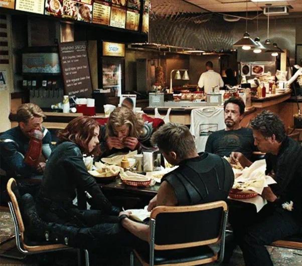 Curiouskeeda - Marvel - Shawarma Scene