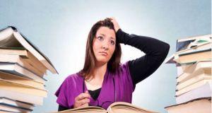 girl preparing for exams