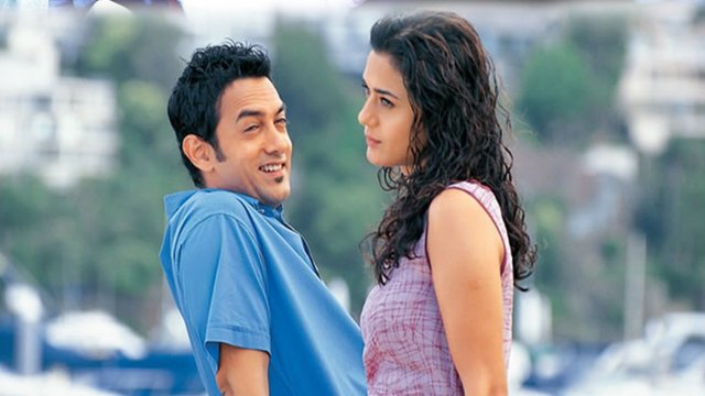 Preety Zinta and Aamir Khan in dil chatha hai