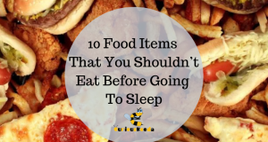 Things not to eat before sleep