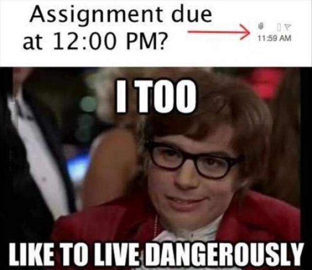 assignment late jokes