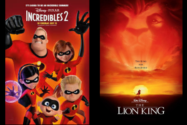 animated movies collage