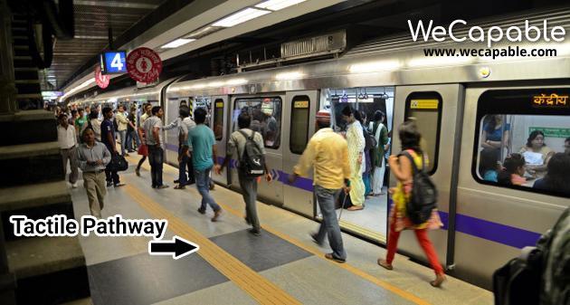 Delhi Metro Safe For Blind People
