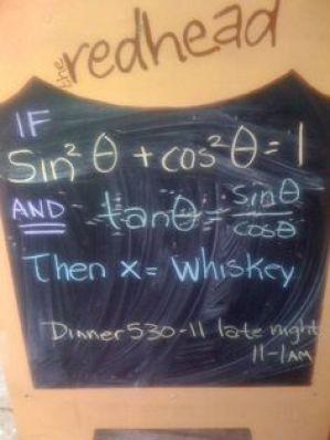 educated food signboard
