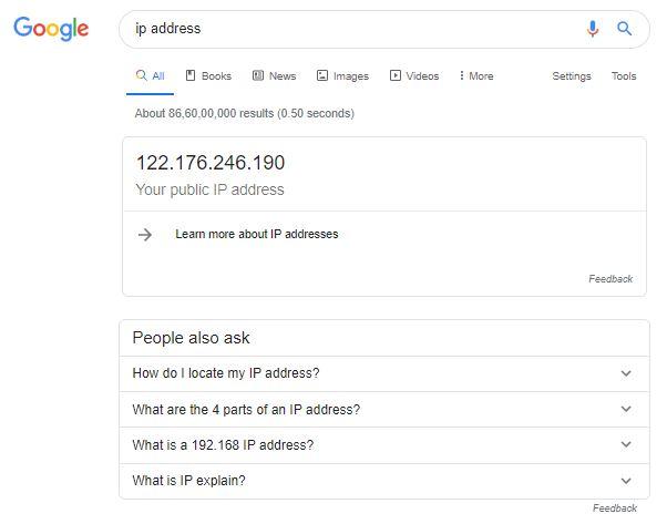 search IP address