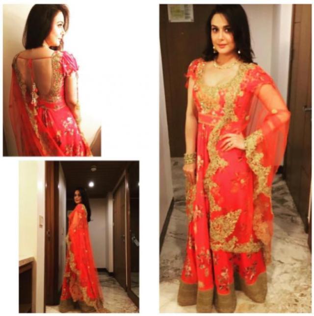 Preity Zinta Karva Chauth look