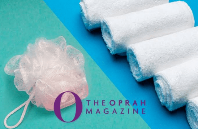 washcloth or a  loofah for keeping your dry skin healthy