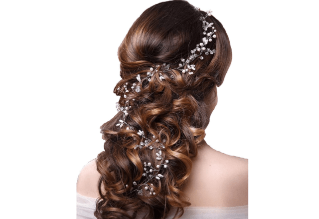 Ziory Golden Fashion Hand Made Headdress Crown Pearl Floral Hair Accessories Crystals Bridal Headband  - Curiouskeeda