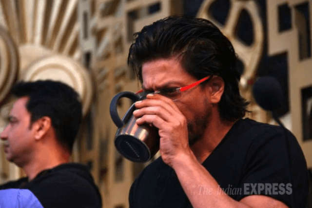 shah rukh khan and his coffee