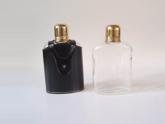 Glass hip flask