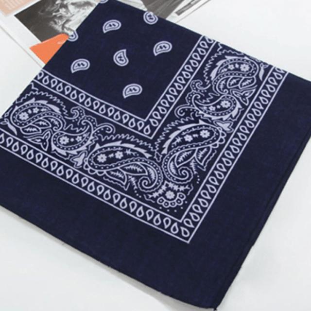 Bandana as a handkerchief