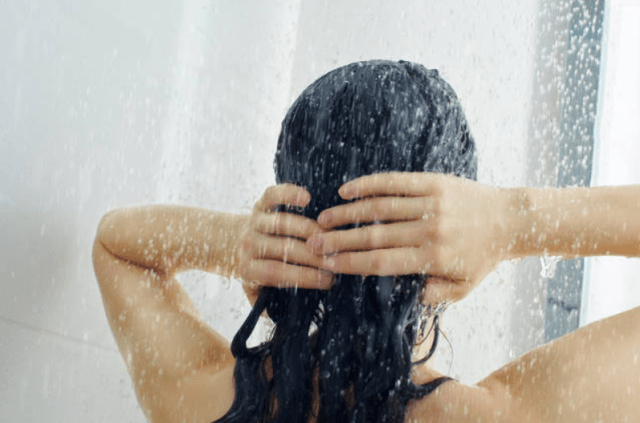 Rinse The Hair With Warm Water