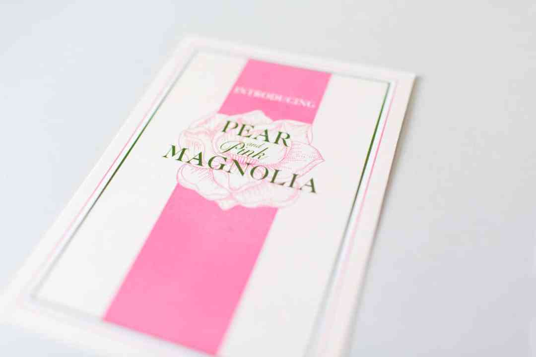 Pear and Pink Magnolia 1