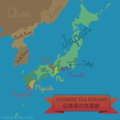 Japanese tea growing regions