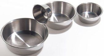 stainless dog bowls