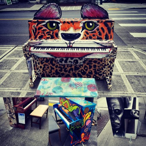 Pianos in Everett Washington - west coast road trip Curiouswriter