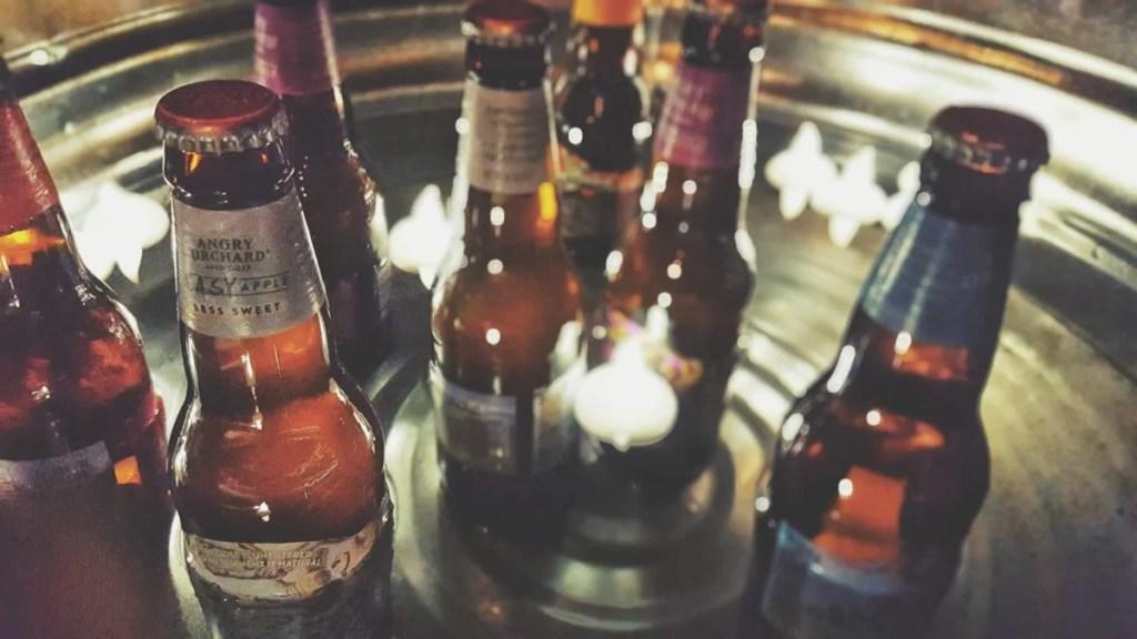 winter party drink tub idea