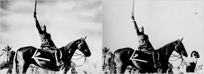 Otra foto retocada: Mussolini a caballo