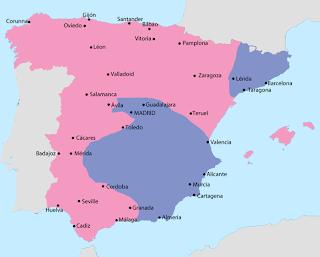 Situación de la Guerra Civil Española en 1938