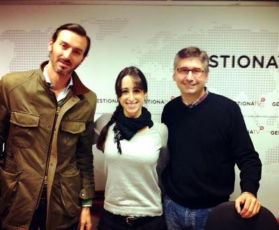 Carlos López, Esther Molina y Manuel J. Prieto