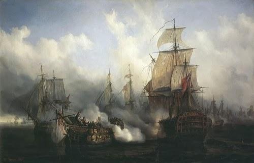 La brutal artillería naval inglesa en Trafalgar