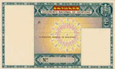 Primer DNI, válido desde 1951 a 1961