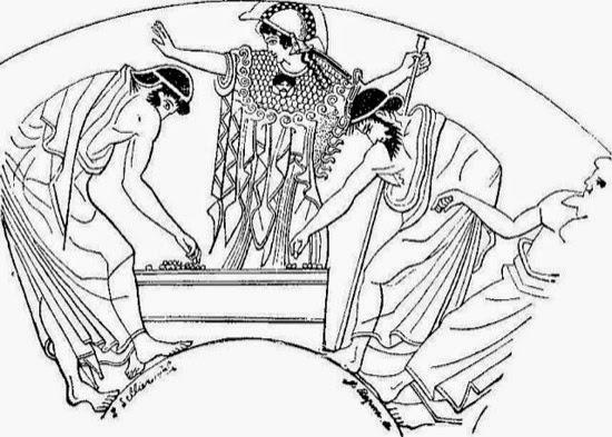 Escena romana de Cleromancia