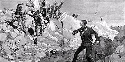 El príncipe en su último combate contra los zulús