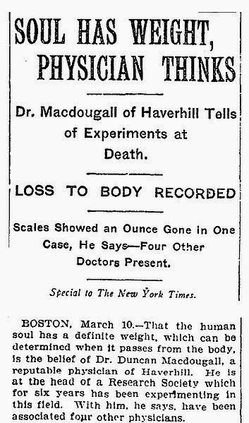 Los experimentos de MacDougall en el New York Times