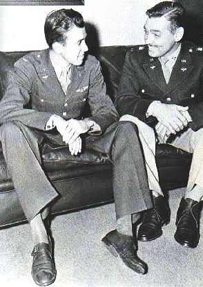 James Stewart y Clark Gable