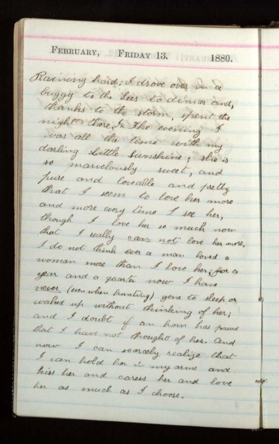 Diario de Roosevelt el día que su mujer aceptó casarse con él