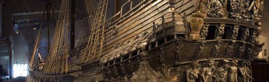 El Vasa, el mítico barco que navegó sólo unos metros