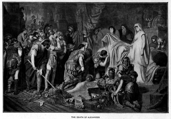 Los tres deseos de Alejandro Magno antes de morir